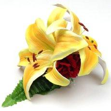 画像3: カサブランカ ウレタン ヘアクリップ 黄色 フラダンス 舞台衣装 髪飾り (3)