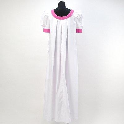 画像2: プリンセス・カイウラニ・ファッション・ムームー【トーチジンジャー/白×ピンク】Sale