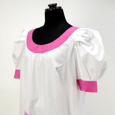画像3: プリンセス・カイウラニ・ファッション・ムームー【トーチジンジャー/白×ピンク】Sale