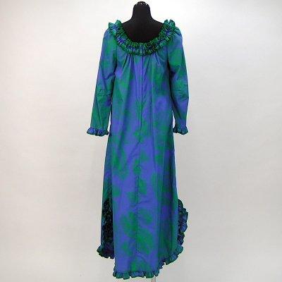 画像2: プリンセス・カイウラニ・ファッション・ムームー【ロングスリーブ/青紫】Sale