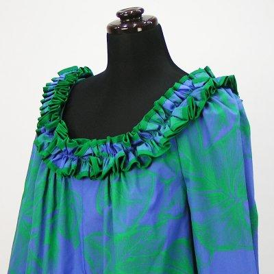 画像3: プリンセス・カイウラニ・ファッション・ムームー【ロングスリーブ/青紫】Sale