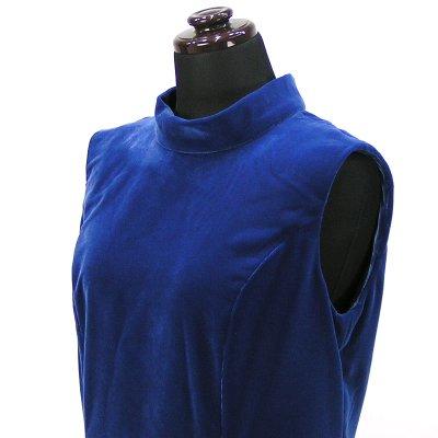 画像3: ベルベットドレス【ブルー】Sale