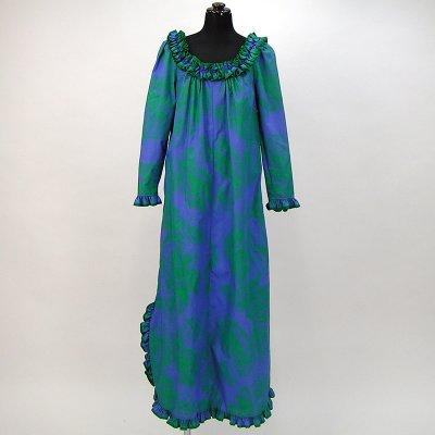 画像1: プリンセス・カイウラニ・ファッション・ムームー【ロングスリーブ/青紫】Sale
