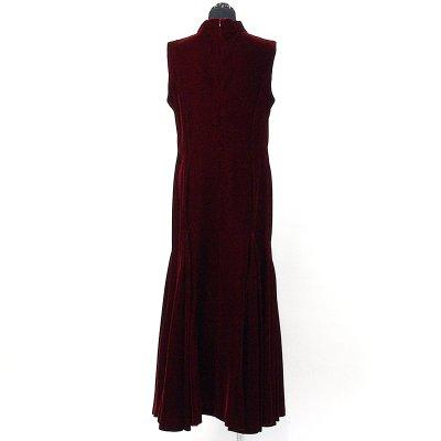 画像2: ベルベットドレス【ワインレッド】Sale