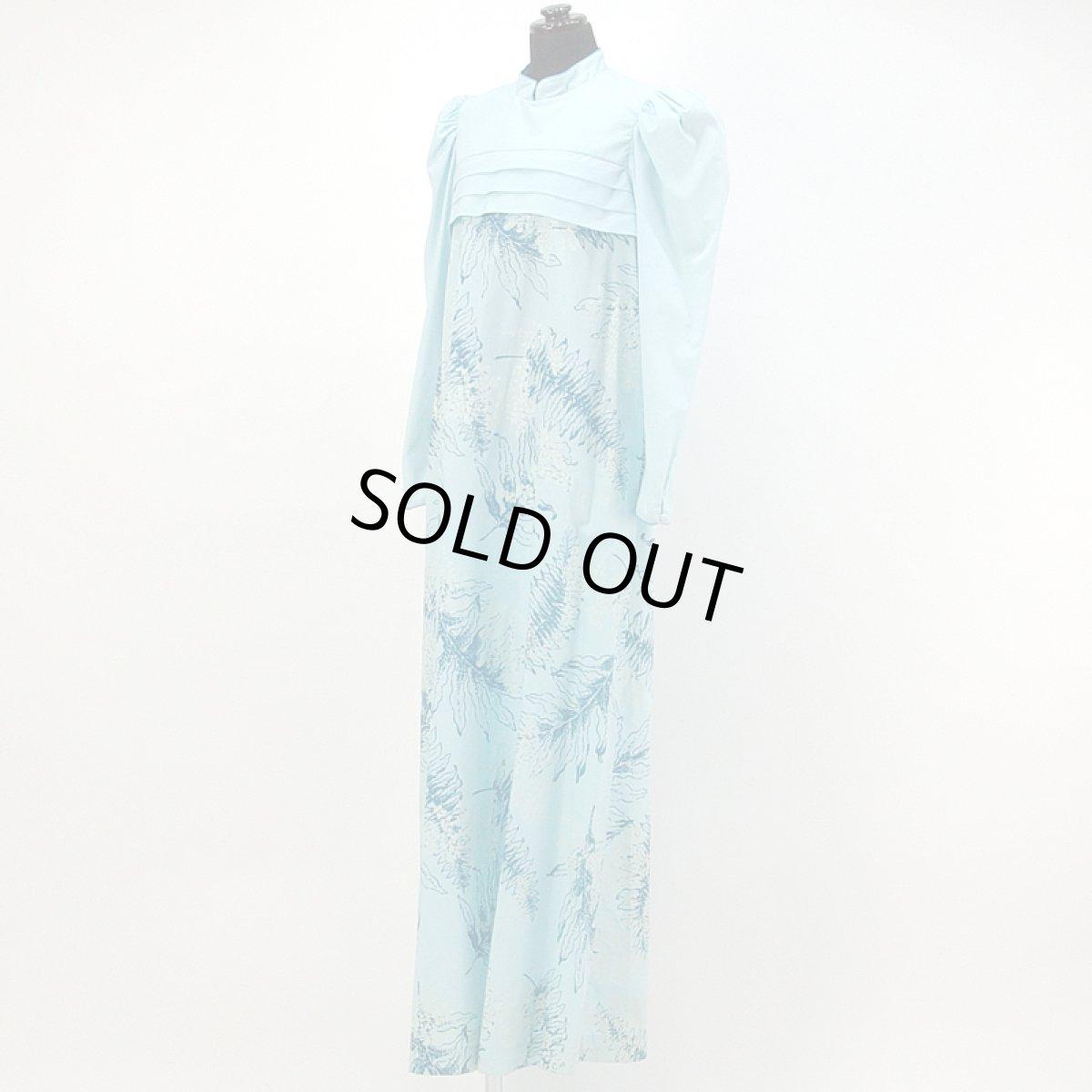 画像1: プリンセス・カイウラニ・ファッション・ムームー【長袖/水色】Sale (1)