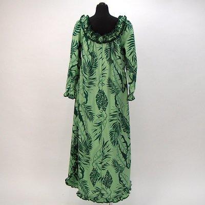 画像2: プリンセス・カイウラニ・ファッション・ムームー【ロングスリーブ/緑】Sale
