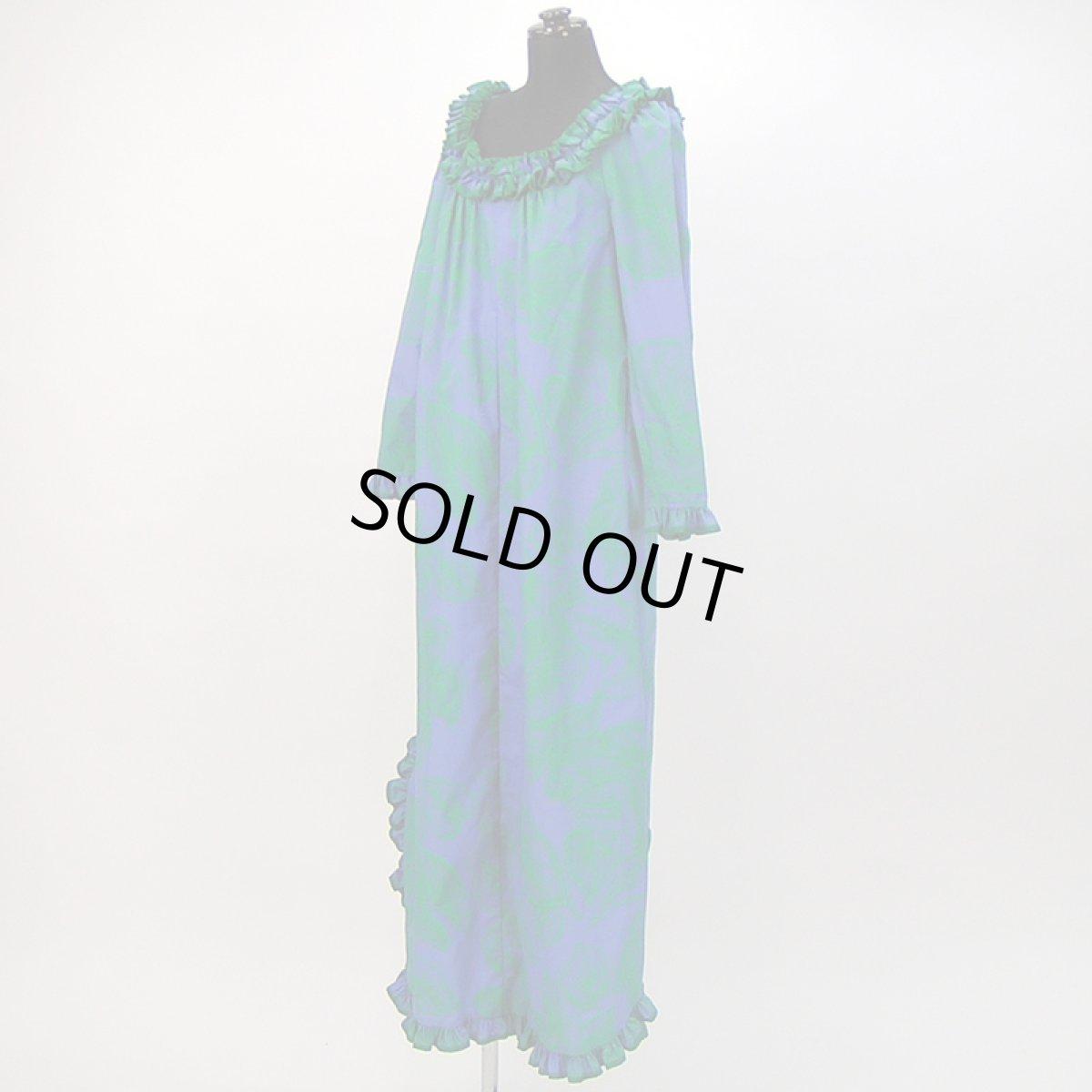 画像1: プリンセス・カイウラニ・ファッション・ムームー【ロングスリーブ/青紫】Sale (1)