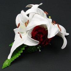 画像2: カサブランカ ウレタン ヘアクリップ 白 フラダンス 舞台衣装 髪飾り (2)