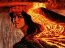 画像2: ジクレー版画 Pele(ペレ:ハワイの火山の女神)by Herb Kane (2)