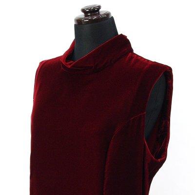 画像3: ベルベットドレス【ワインレッド】Sale