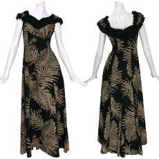 画像1: プリンセス カイウラニ ファッション フリルスリーブドレス≪モンステラ/黒≫ (1)