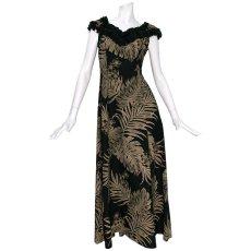 画像2: プリンセス カイウラニ ファッション フリルスリーブドレス≪モンステラ/黒≫ (2)