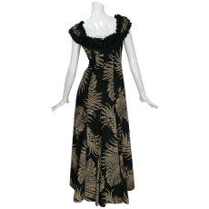 画像3: プリンセス カイウラニ ファッション フリルスリーブドレス≪モンステラ/黒≫ (3)