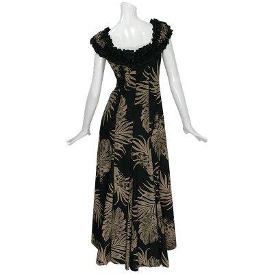 画像3: プリンセス カイウラニ ファッション フリルスリーブドレス≪モンステラ/黒≫