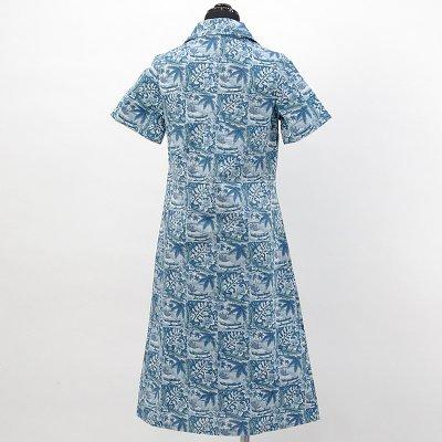 画像2: reyn spooner社製シャツドレス【ロング】【ANINI BEACH/BLUE】Sale