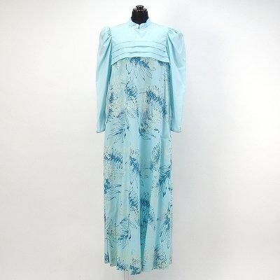 画像1: プリンセス・カイウラニ・ファッション・ムームー【長袖/水色】Sale