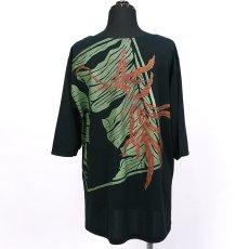 画像3: East Honolulu Clothing Campany製7分袖トップス ラウアエ&バナナリーフ柄 黒地 (3)