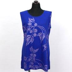 画像2: East Honolulu Clothing Campany製ノースリーブチュニック ククイ柄 青紫×ラベンダー (2)