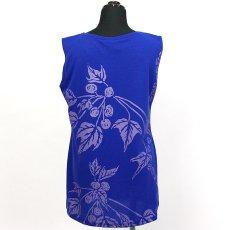 画像3: East Honolulu Clothing Campany製ノースリーブチュニック ククイ柄 青紫×ラベンダー (3)