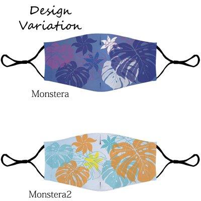 画像3: ネコポス送料無料 洗って使えるハワイアンな立体型マスク Mサイズ