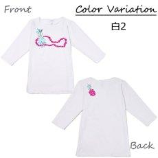 画像11: スリムフィット 7分袖 Tシャツ カラフルパイナップル柄 ネコポス対応可 (11)