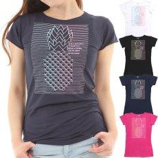 画像1: 売り切りSALE フレンチスリーブ Tシャツ パイナップルライン柄 ネコポス対応可 (1)