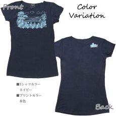 画像8: 売り切りSALE スリムフィット フレンチスリーブ Tシャツ パーフェクトウェーブス柄 ネコポス対応可 (8)