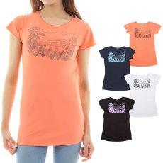 画像1: 売り切りSALE スリムフィット フレンチスリーブ Tシャツ パーフェクトウェーブス柄 ネコポス対応可 (1)