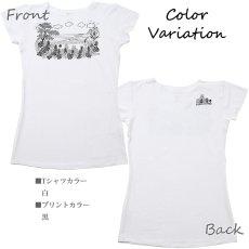 画像6: 売り切りSALE スリムフィット フレンチスリーブ Tシャツ パーフェクトウェーブス柄 ネコポス対応可 (6)
