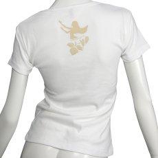 画像2: フライスTシャツ≪ホワイトジンジャーレイ/白×ベージュ≫≪ネコポス対応可≫ (2)