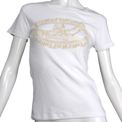 画像1: フライスTシャツ≪ホワイトジンジャーレイ/白×ベージュ≫≪ネコポス対応可≫
