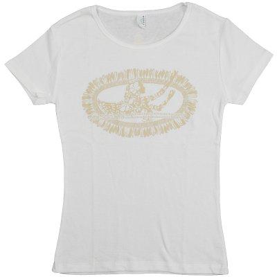 画像3: フライスTシャツ≪ホワイトジンジャーレイ/白×ベージュ≫≪ネコポス対応可≫