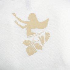 画像4: フライスTシャツ≪ホワイトジンジャーレイ/白×ベージュ≫≪ネコポス対応可≫ (4)
