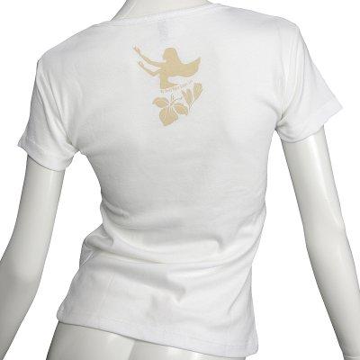 画像2: フライスTシャツ≪ホワイトジンジャーレイ/白×ベージュ≫≪ネコポス対応可≫