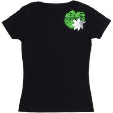 画像4: 6.2oz速乾フライスTシャツ≪タヒチアンモンステラ/黒×緑&白≫≪ネコポス対応可≫ (4)