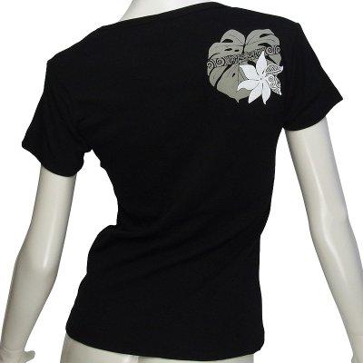 画像2: 6.2oz速乾フライスTシャツ≪タヒチアンモンステラ/黒×グレー&白≫≪ネコポス対応可≫