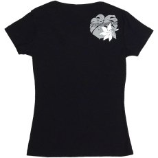 画像4: 6.2oz速乾フライスTシャツ≪タヒチアンモンステラ/黒×グレー&白≫≪ネコポス対応可≫ (4)