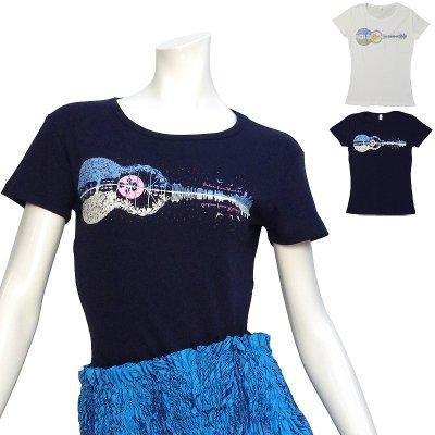 画像1: 速乾加工 フライス 半袖 Tシャツ≪ウクレレ柄プリント≫≪ネコポス対応可≫