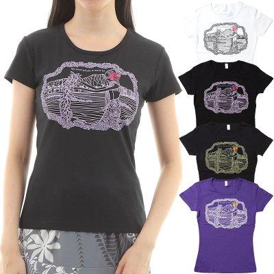 画像1: フラダンス Tシャツ 速乾加工 半袖 ピカケ&マイレ柄 ネコポス対応可