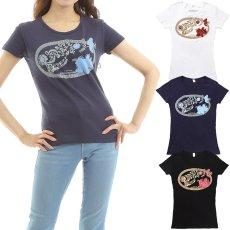 画像1: フラダンス Tシャツ 速乾加工 半袖 ラカ柄 ネコポス対応可 (1)