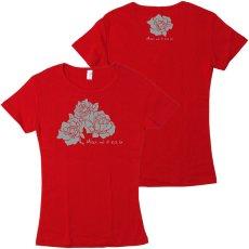 画像1: 数量限定 再入荷予定なし フライス 半袖 Tシャツ マウイノエカオイ柄 赤 限定カラー (1)