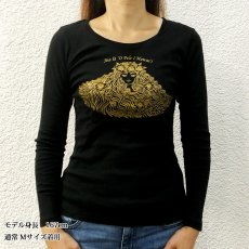 画像2: コットン 長袖 Tシャツ ペレ柄 ネコポス対応可 (2)