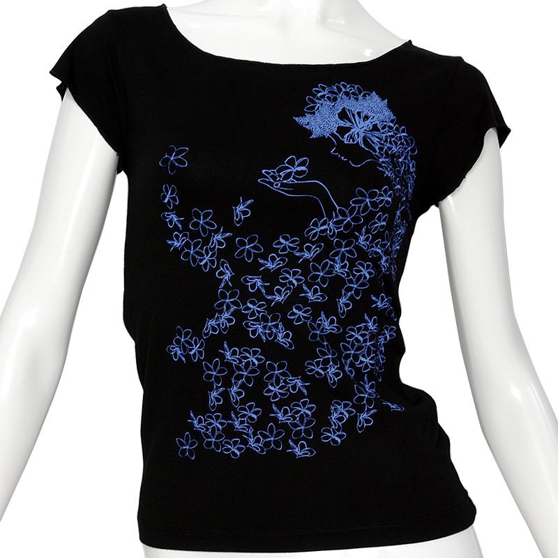 スーパーストレッチ素材使用のフレンチスリーブTシャツ