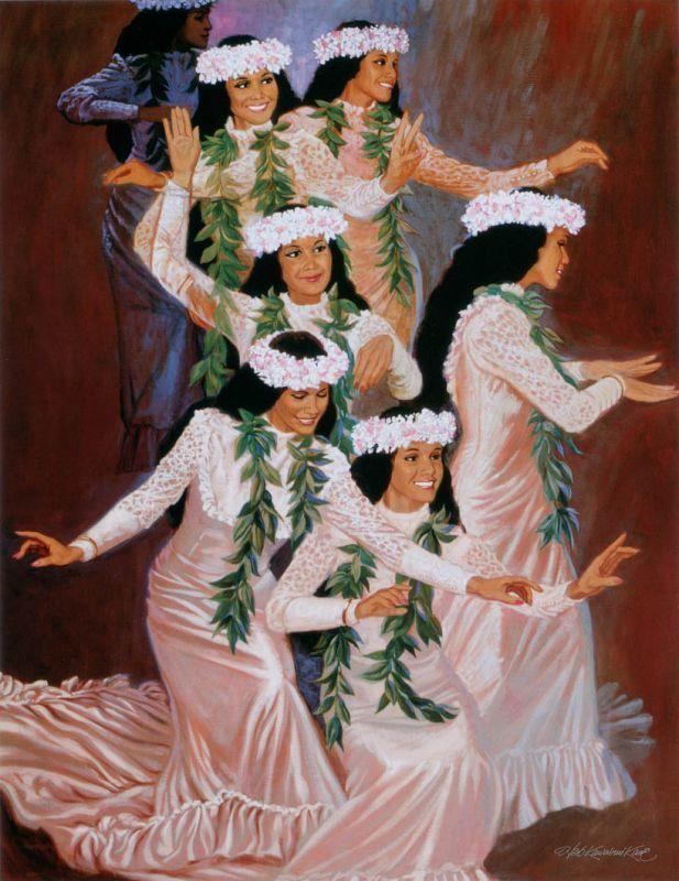 アウアナを踊るフラダンサー