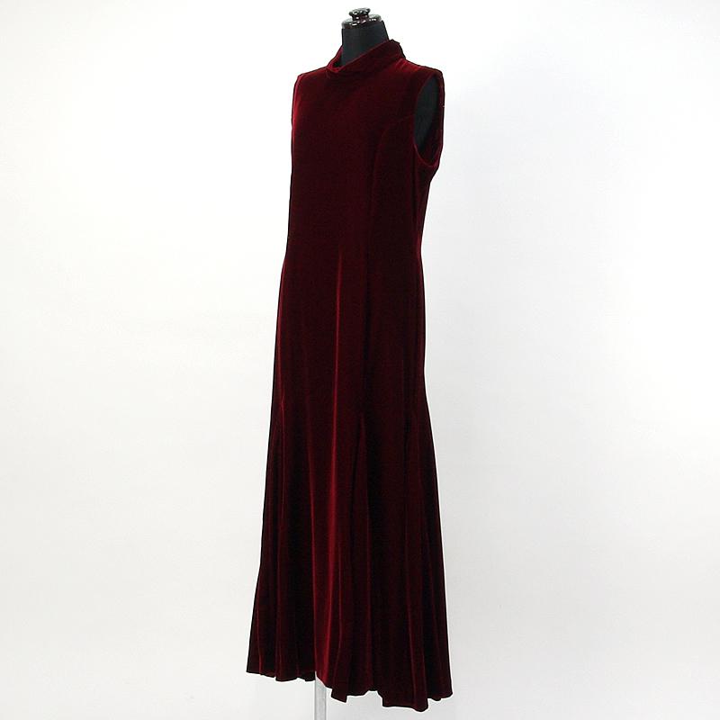 画像1: ベルベットドレス【ワインレッド】Sale (1)