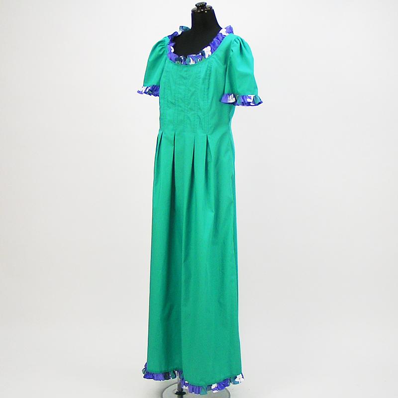 画像1: プリンセス・カイウラニ・ファッション・ムームー【ゆったりデザイン/ライトグリーン】 (1)