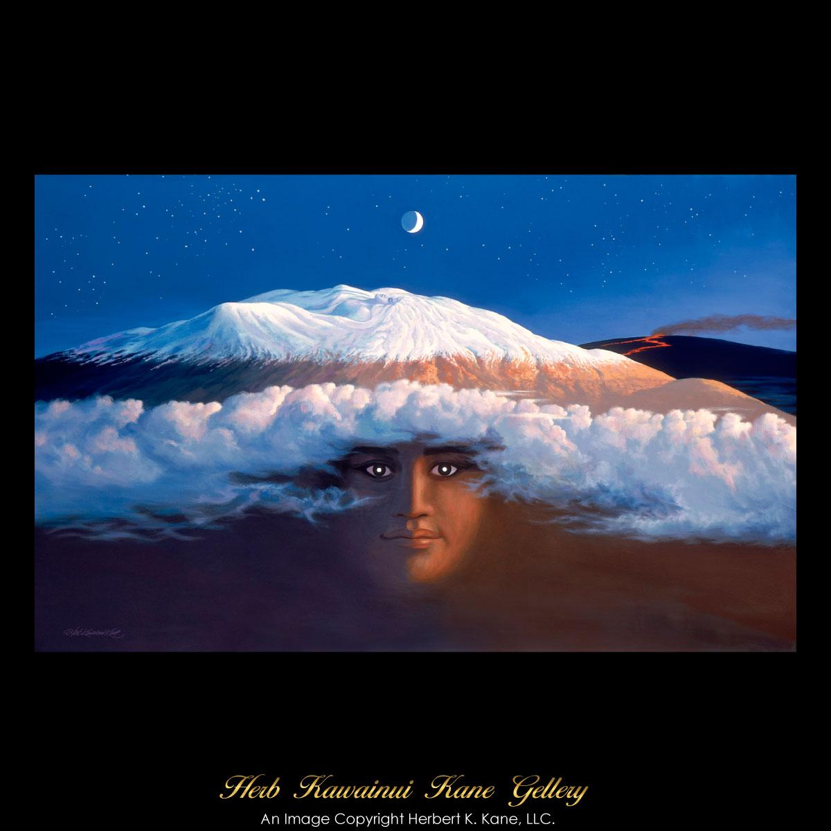 画像1: ジクレー版画 Poli'ahu, Snow Goddess (ポリアフ:ハワイの雪の女神) by Herb Kane (1)