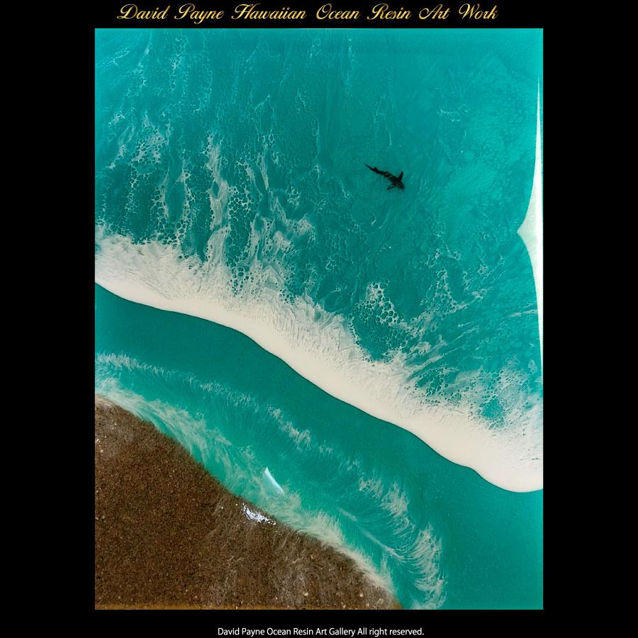 画像1: デイヴィッドペイン ハワイアン レジン アート Lサイズ (1)