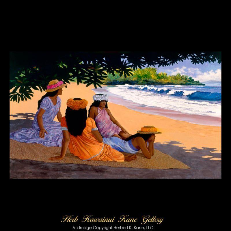 画像1: ジクレー版画 Hamoa Beach (ハモア ビーチ) by Herb Kane (1)