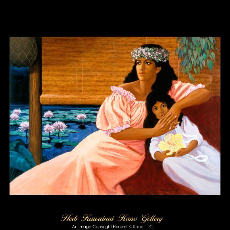 画像1: ジクレー版画 On the Lanai (オン ザ ラナイ) by Herb Kane (1)
